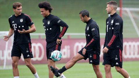 Тиаго се появи за тренировка с Байерн