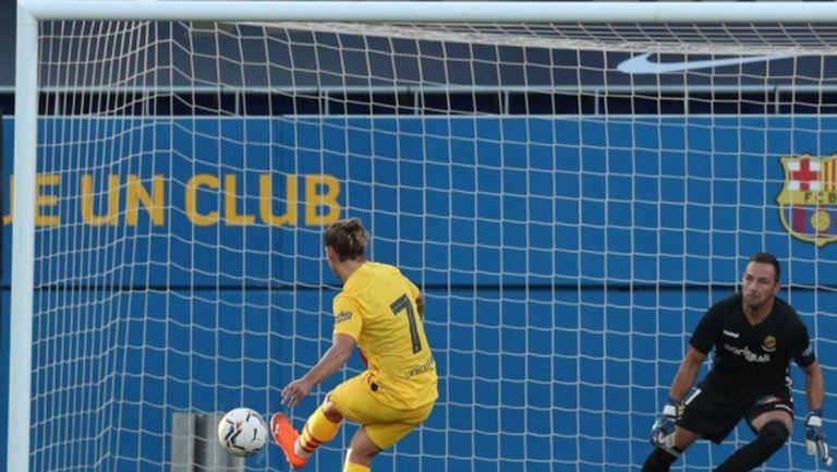 Меси игра за Барселона при успех над Химнастик в контрола
