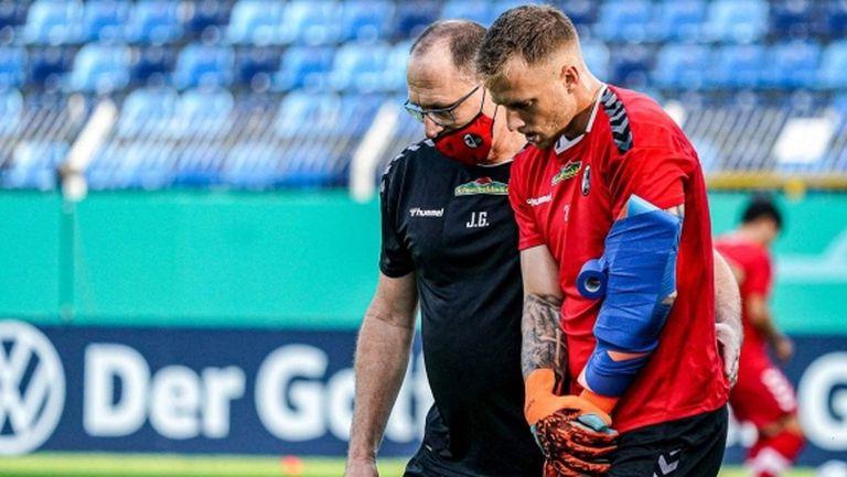 Фрайбург загуби титулярния си вратар за седмици