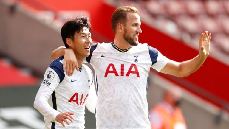 Сон и Кейн попиляха Саутхамптън с общо пет гола и четири асистенции (видео)