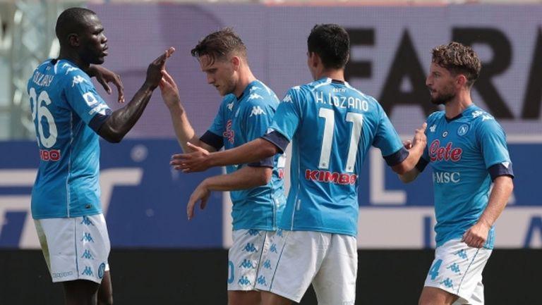Наполи изтръгна победата срещу Парма (видео)