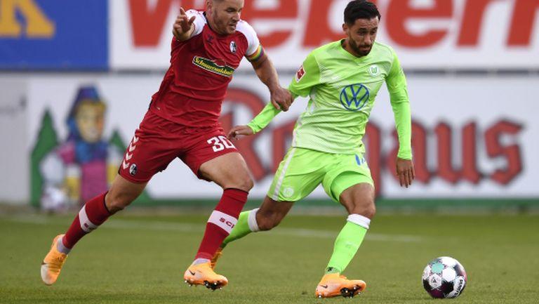 Фрайбург изпусна да бие Волфсбург в последния мач от кръга