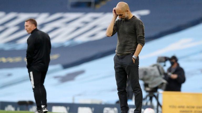 За първи път отбор на Гуардиола получи пет гола, Варди и преди е имал хеттрик срещу Сити