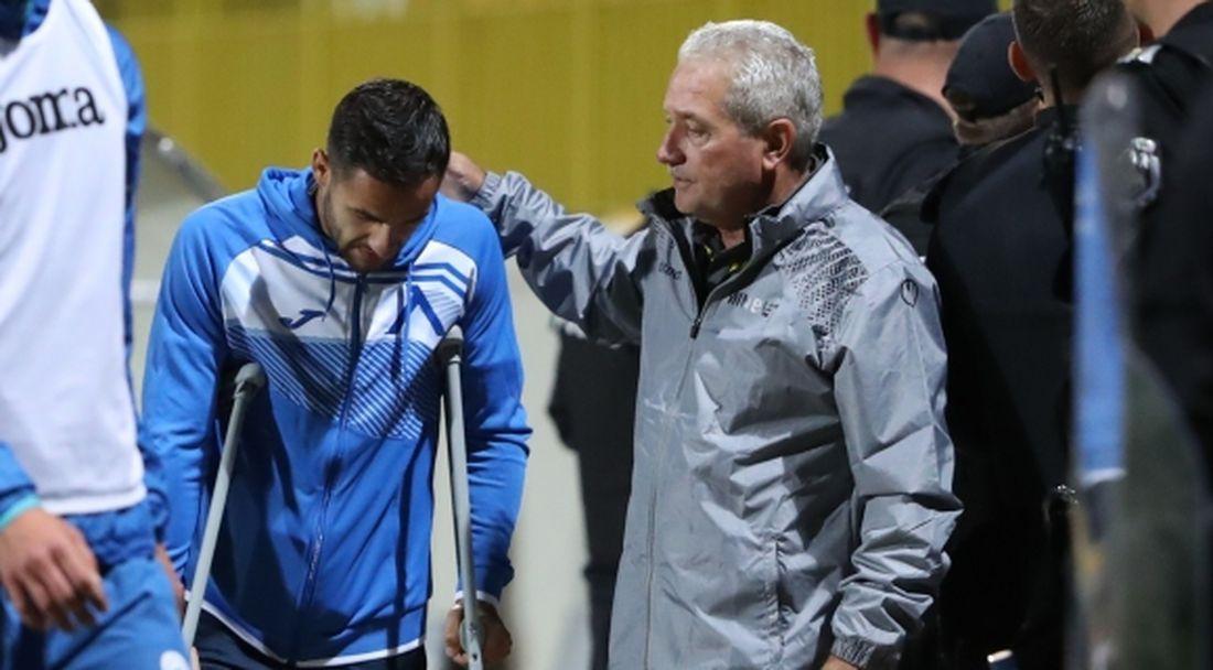 "Удар за Левски! ""Сините"" загубиха Ради Цонев за половин година"