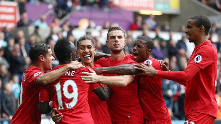 Ливърпул с пета поредна победа след обрат срещу Суонзи (видео)