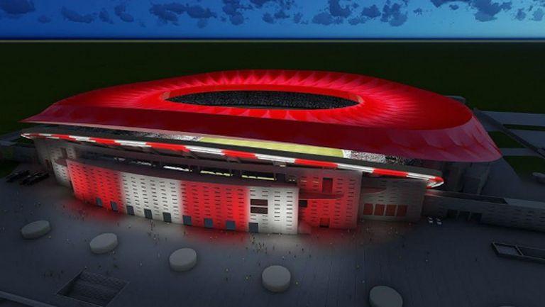 Новият стадион на Атлетико ще бъде с ултрамодерно осветление (видео)