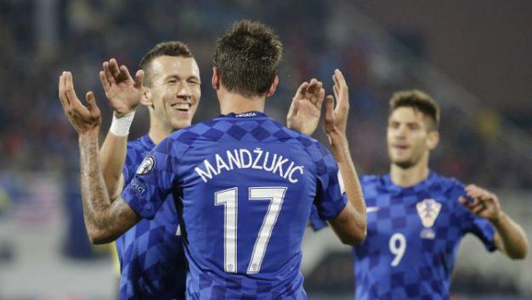 Хърватия разби Косово с хеттрик на Манджукич (видео)