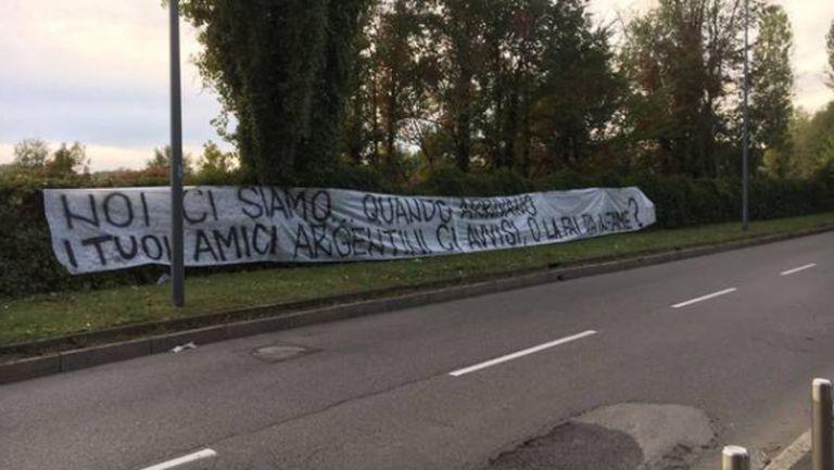Тифозите на Интер пред дома на Икарди: Ние сме тук, а твоите аржентински приятели?