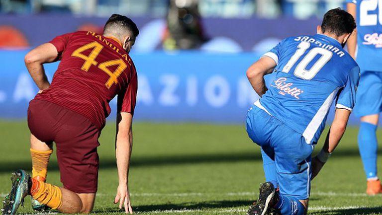 Рома загуби точки срещу немощен слабак (видео)