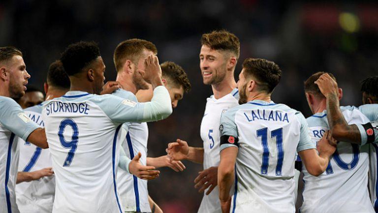 Три гола с глава белязаха разликата в класите на старите съперници Англия и Шотландия (видео)