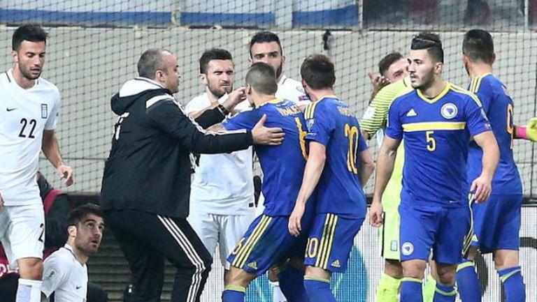 Страхотен гол в 95-ата минута спаси Гърция срещу Босна и Херцеговина (видео)