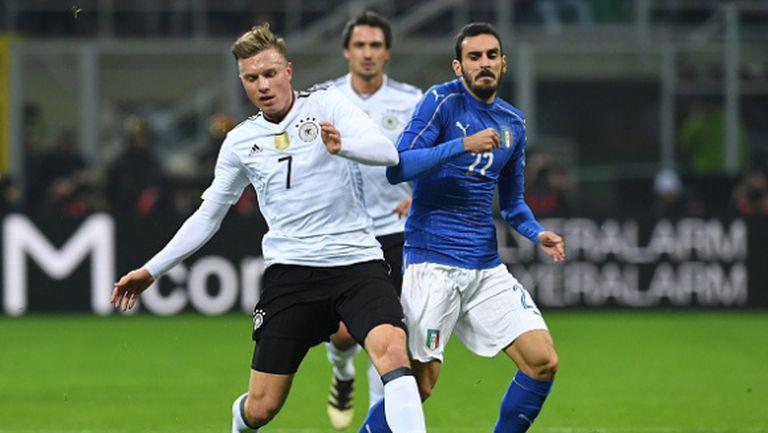 """Скука на """"Сан Сиро"""", Италия и Германия не си вкараха гол (видео)"""
