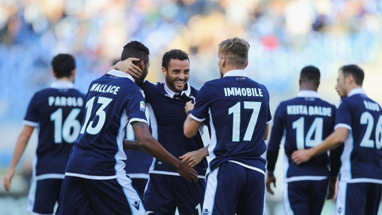 Лацио почти застигна Рома след нов успех (видео)