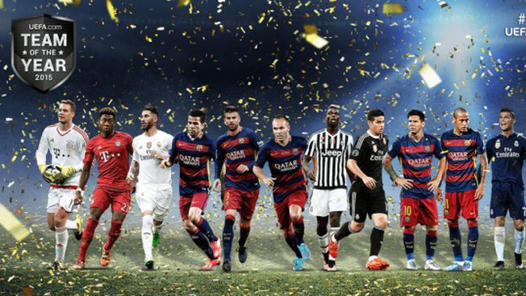 УЕФА обяви 40-те номинирани, от които трябва да бъде избран идеален отбор