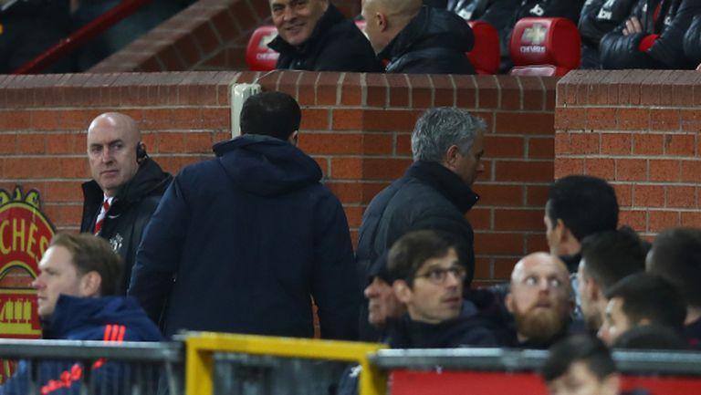 Моуриньо отново гледа от трибуните провал на Юнайтед (видео)