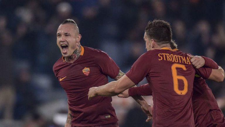 Рома излъга Милан с изключителен гол (видео + галерия)