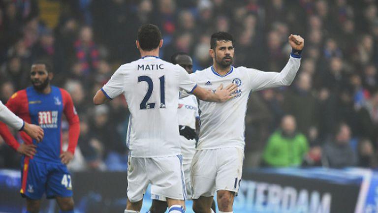 Нов гол на Коща, 11-а поредна победа и девет точки аванс за Челси (видео)