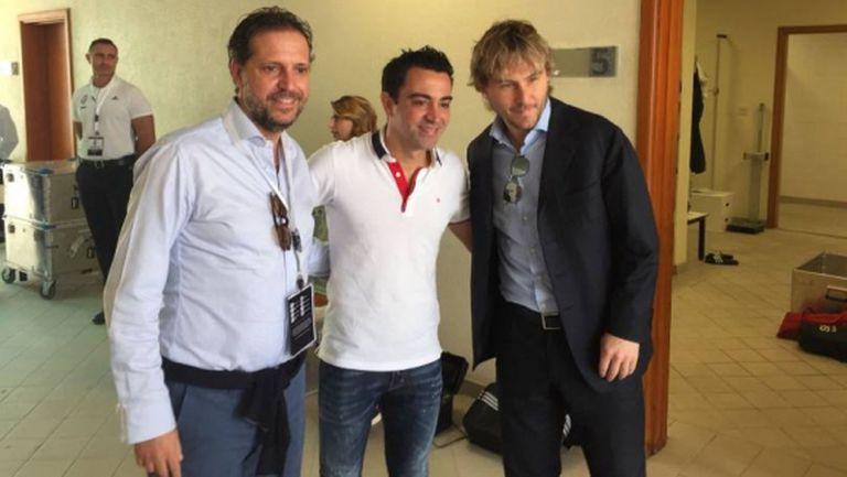 Легенда на Барса и Испания посети Юве в Доха (снимки)
