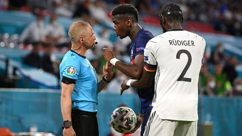 Погба омаловажи случилото се с Рюдигер, не иска наказание за защитника
