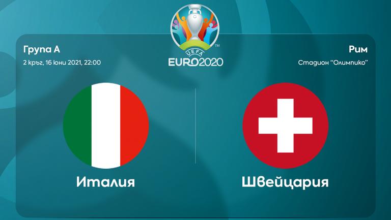 Преди двубоя Италия - Швейцария