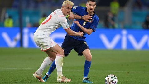 Италия вкара три на Швейцария, Локатели блести за италианците