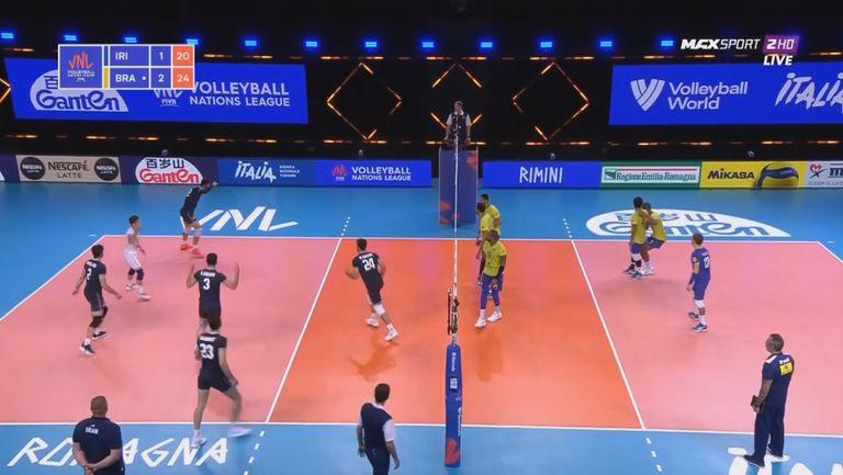Лига на нациите (мъже) Иран - Бразилия 1:3