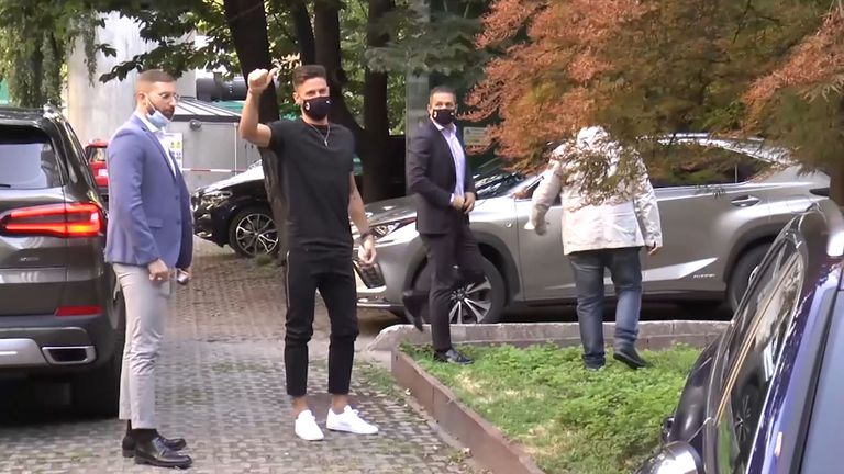 Оливие Жиру минава медицински прегледи в Милан
