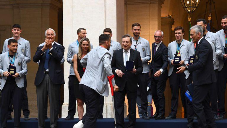 Манчини: Имахме още по-голямо желание да спечелим Европейското след контузията на Спинацола