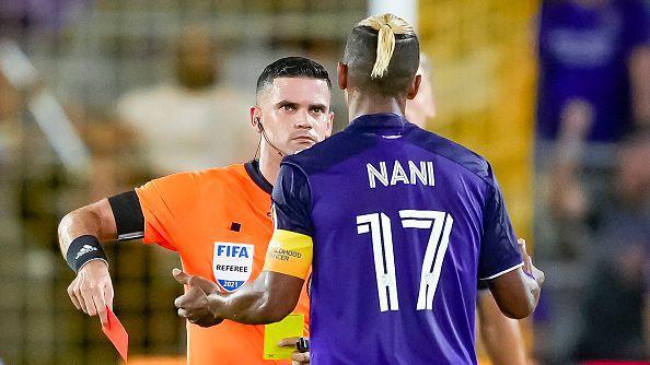 Луиш Нани с червен картон при загубата на Орландо с 2:4 от Монреал