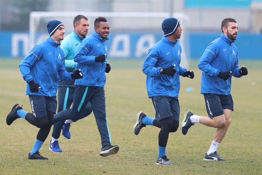 Първа тренировка на Левски