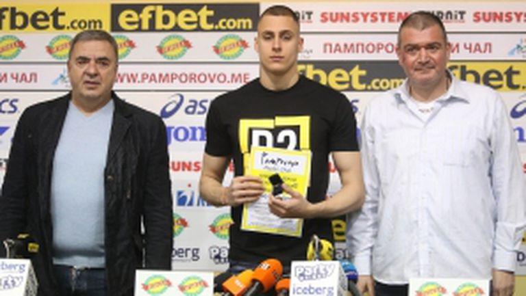 Награждаване на Йосиф Миладинов за спортист на месеца