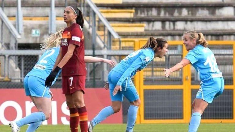 Евдокия Попадинова блести в Италия с гол срещу Рома