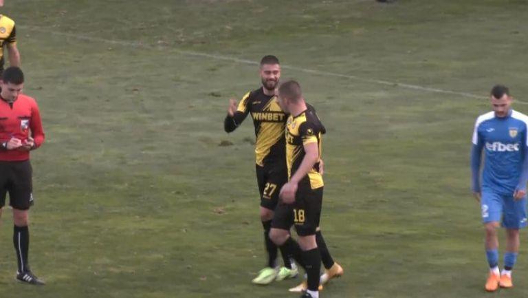 Кристиан Добрев направи резултата 4:0 в полза на Ботев
