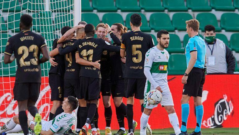 Барселона без Меси победи Елче като гост с 2:0