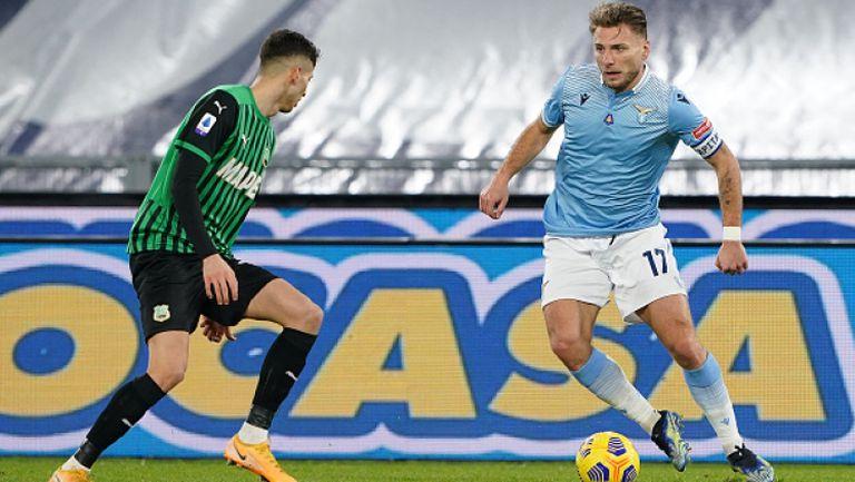 """Лацио обърна Сасуоло за четвърта поредна победа в Серия """"А"""""""