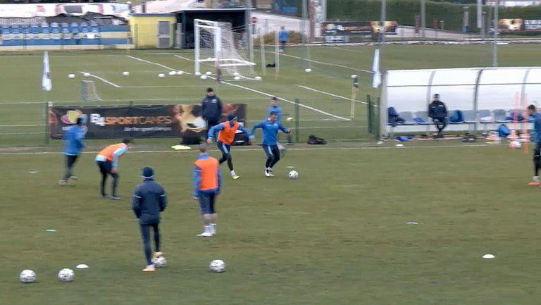 Вечерната тренировка на Левски в Хърватия