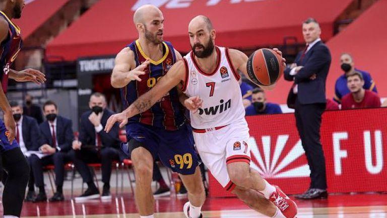 Без Везенков Олимпиакос загуби от Барселона