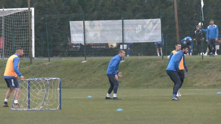 """Сериозно натоварване на """"сините"""" преди мача с Олимпия Любляна"""