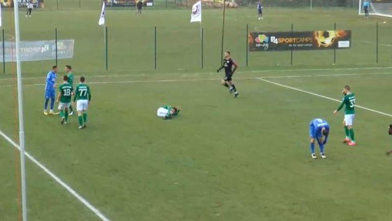 Здравко Димитров предизвика меле и получи червен картон срещу Олимпия
