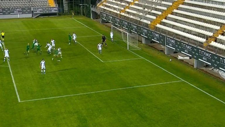 Жосуе Са направи резултата 2:1 в полза на Лудогорец срещу Динамо