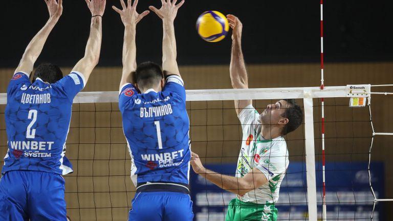 Левски победи с лекота Добруджа с 3:0 в отложен мач от НВЛ