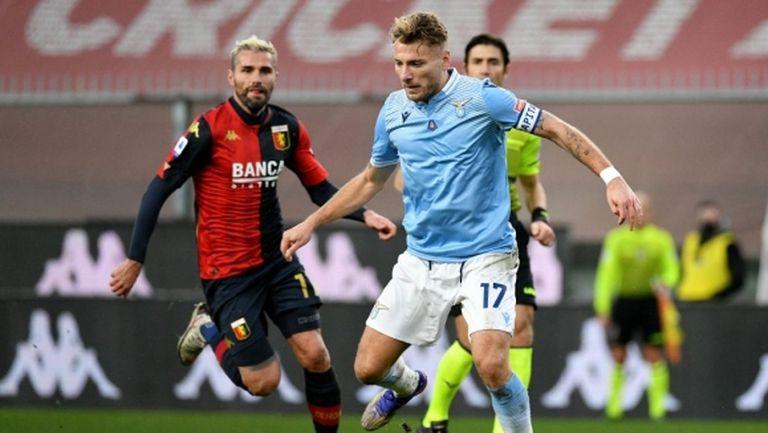 Лацио изпусна победата в Генуа (видео)