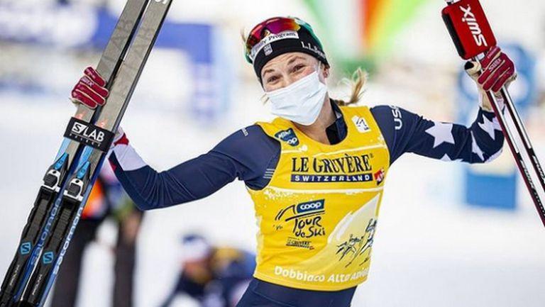 """Джесика Дигинс спечели старта на 10 км от """"Тур дьо ски"""" в Тоблах (видео + снимки)"""