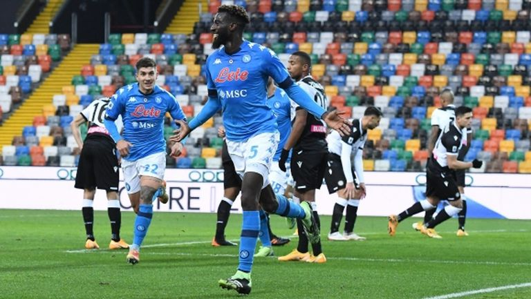 Наполи изтръгна победа срещу Удинезе с гол в края (видео)