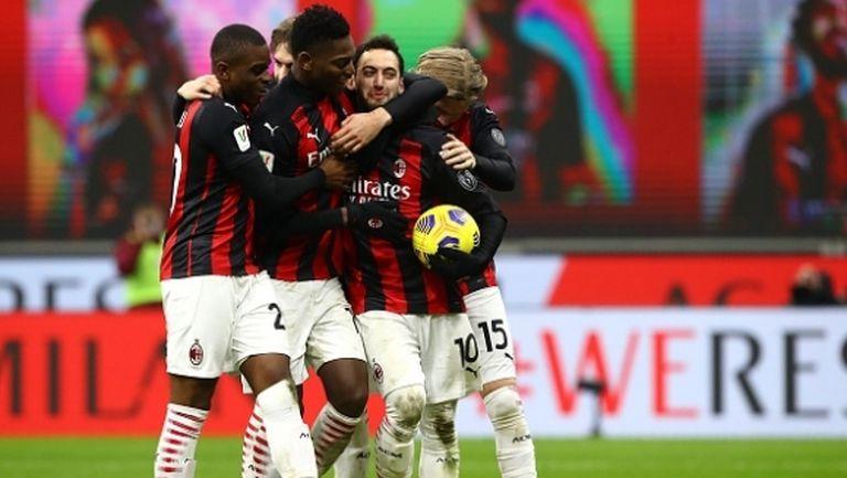 Перфектни дузпи пратиха Милан на 1/4-финал (видео)