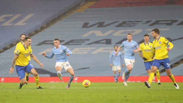 Ман Сити с нова победа, въпреки проблемите в атака