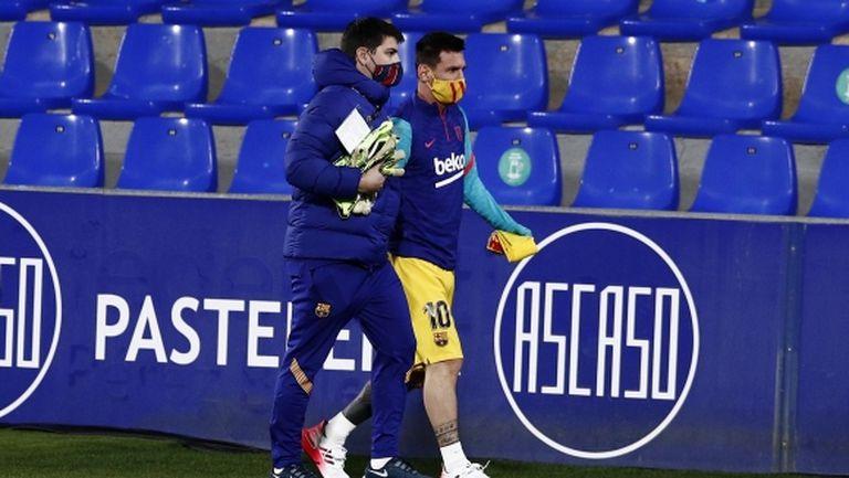 В Барселона са оптимисти за завръщането на Меси във финала за Суперкупата