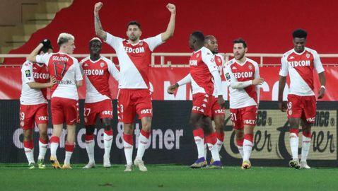 Монако пребори Марсилия с три гола от статични положения (видео)