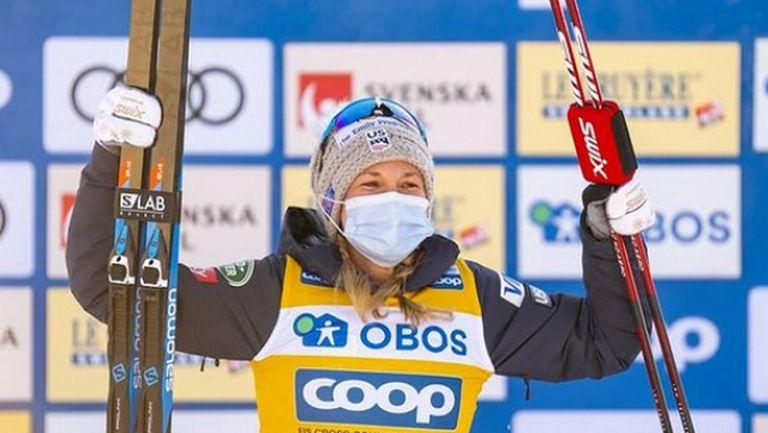 Джесика Дигинс спечели старта на 10 км свободен стил във Фалун (видео + снимки)