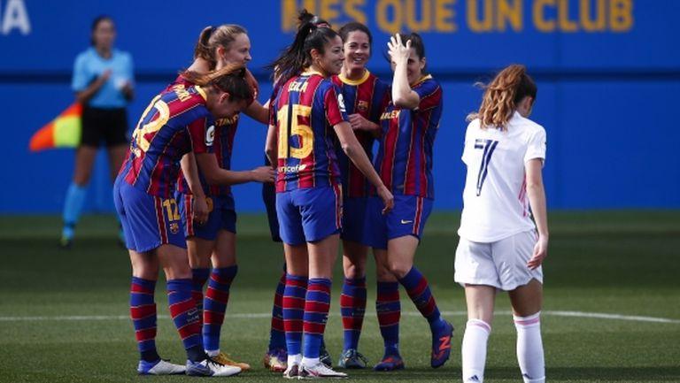 Барселона отново разби Реал Мадрид в Ел Класико при жените (видео)